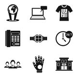 Modern technology icon set, simple style royalty free illustration