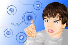 Modern technology kid Royalty Free Stock Photos