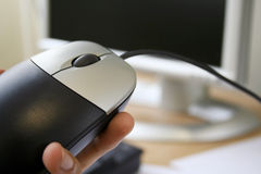 Modern technology - mouse and monitor Stock Images