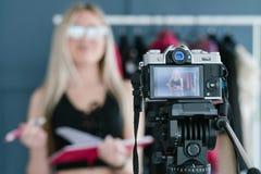 Technology photo video shooting camera blogger royalty free stock photography