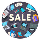 Modern technology store sale advertisement banner Royalty Free Stock Photos