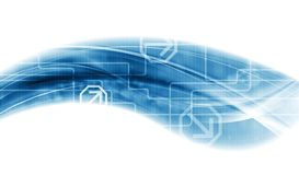Modern technology wave vector background Royalty Free Stock Photos