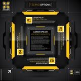 Modern technoorientering med 4 alternativ Fotografering för Bildbyråer