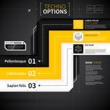 Modern technoorientering med tre linjer Fotografering för Bildbyråer
