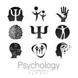 Modern teckenuppsättning av psykologi Idérik stil Symbol i vektor Royaltyfri Fotografi