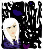 Modern Teen. Illustration of a young modern teen royalty free illustration
