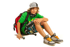 Modern teen schoolboy Stock Photo