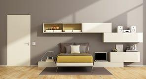 Modern teenage boy bedroom Royalty Free Stock Photography