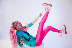 Modern teenage girl Stock Photo