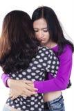 Modern teenage girls having problems Royalty Free Stock Photo
