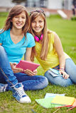 Modern teenage girls Royalty Free Stock Photo