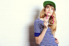 Modern teenager Stock Images