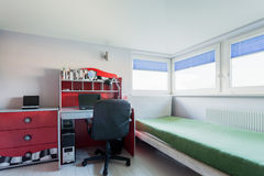 Modern teenager room in apartment Stock Images