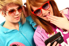 Modern teenagers Royalty Free Stock Photo