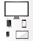 Modern tehnology devices set Stock Photos