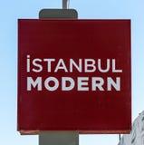 Modern teken van Istanboel - het museum van Istanboel van modern art. Royalty-vrije Stock Afbeeldingen