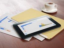 Modern teknologi i affärsanalys Royaltyfri Bild