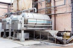 Modern teknologisk industriell utrustning av vinfabriken fotografering för bildbyråer