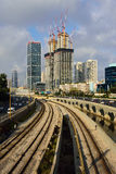 Modern Tel Aviv view. Royalty Free Stock Photo