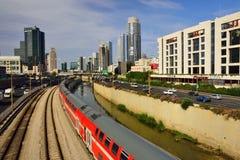 Modern Tel Aviv view. Royalty Free Stock Images