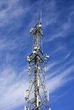 Modern telecommunications tower. Stock Photos