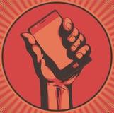 modern telefon för cell stock illustrationer