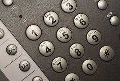 Modern telephone keypad Royalty Free Stock Image
