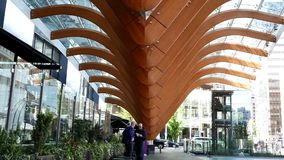 Modern Telus building. At downtown Vancouver stock footage
