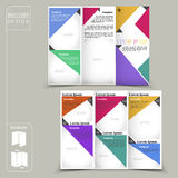 Modern template for advertising concept brochure with geometric Royalty Free Stock Image