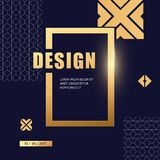 Vector gold luxury abstract background design. Modern template for banner, flyer, card, invitations, brochure and poster element for party and event with royalty free illustration