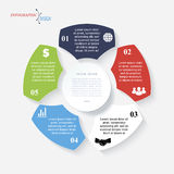 Modern template infographic for business Royalty Free Stock Photo