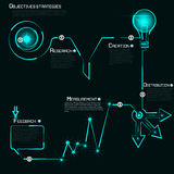 Modern template infographics process number of the luminous line Royalty Free Stock Image