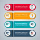 Modern template for infographics. Vector banner with 4 options Stock Photos