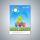 Modern template layout brochure, magazine, flyer Royalty Free Stock Image