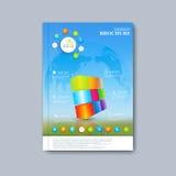 Modern template layout brochure, magazine, flyer Stock Photography