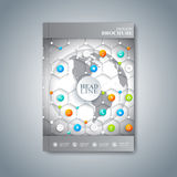 Modern template layout brochure, magazine, flyer Royalty Free Stock Photo