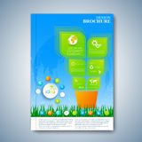 Modern template layout brochure, magazine, flyer, booklet, cover or report in A4 size for your design . Vector Illustration Royalty Free Stock Photography