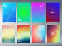 Modern template minimal covers design for brochure royalty free illustration