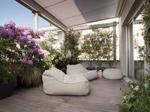 Modern terrace Royalty Free Stock Photos