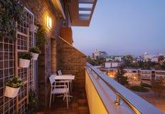 Modern Terrace Exterior stock photography