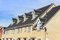 Modern Terrace Houses, Beccles, Suffolk, UK Stock Photo