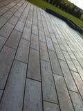 Modern terras van betontegels stock afbeelding