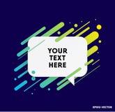 Modern textask med färgrika band och mörkt - blå bakgrund Ideal för motivational kostnadsförslag också vektor för coreldrawillust stock illustrationer