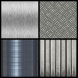 Modern Texture Collection. A collection of modern metal textures - most tile seamlessly as a pattern in any direction. Larger versions of each are also available stock illustration