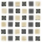 Modern textured squares. Neutral colored modern textured squares on white background Royalty Free Stock Photography