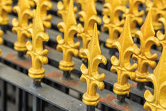 Modern Thai art of fence at the temple Stock Image