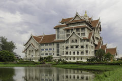 Modern thai building Stock Image