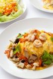 Modern Thai food Creamy omelet. Stock Photography