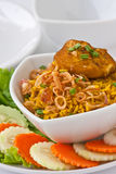 Modern thai food, Saffron rice with chiken Stock Image