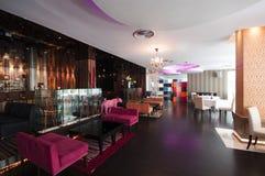 Modern Thai Restaurant Interior. Modern Thai Hotel Restaurant Interior royalty free stock images